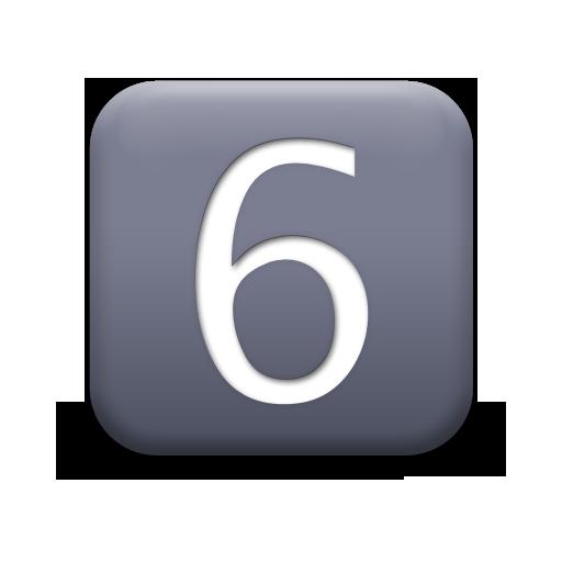118520-matte-grey-square-icon-alphanumeric-number-6