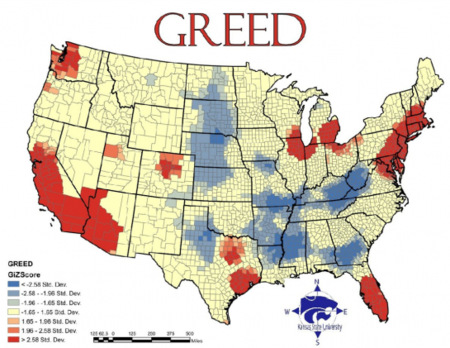 Kruse Kronicle - Map of wealth distribution in the us